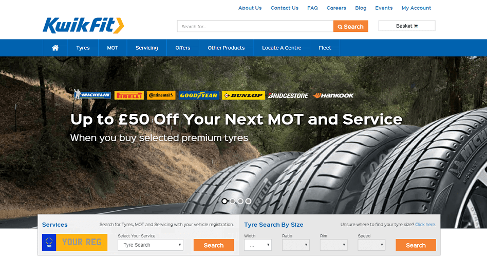 Kwik Fit is a market leader in the UK when it comes to MOT testing, car servicing and repair. The company regularly publishes online discounts and promotional codes in order to save its customers money on a range of products and services.