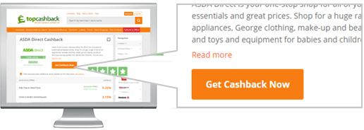 Get Cashback Now Button Example