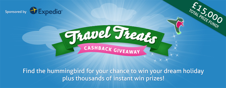 Travel Treats Cashback Giveaway